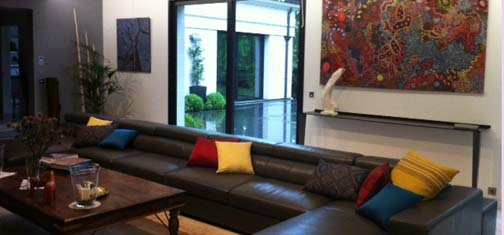 r alisation d 39 un assortiment de coussins sur mesure int rieurs. Black Bedroom Furniture Sets. Home Design Ideas